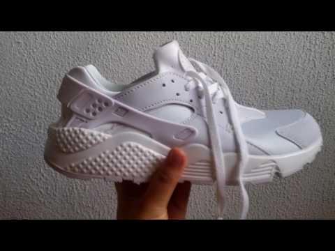 c6e15bd1015 White Nike Huarache Fake Aliexpress Unboxing - YouTube