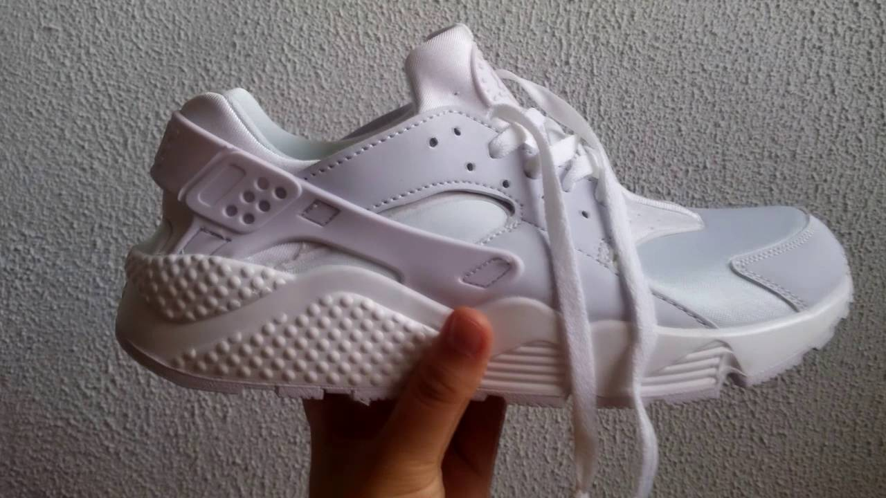 adf9bda6d710 White Nike Huarache Fake Aliexpress Unboxing - YouTube