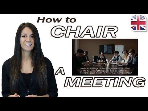 Chair a Meeting in English - Useful English Phrases for Meetings - Business English
