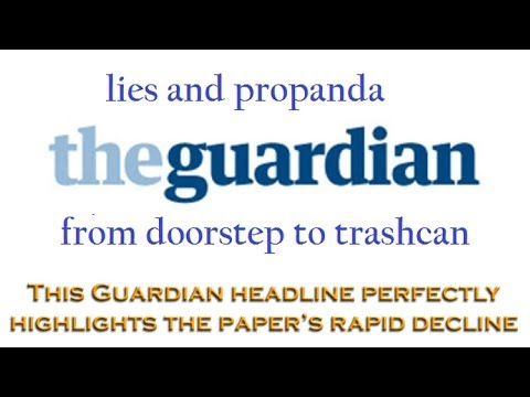 This headline perfectly shows The Guardian's rapid decline into establishment propaganda outlet
