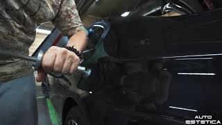Технологии PDR исправление вмятины на кузове автомобиля BMW
