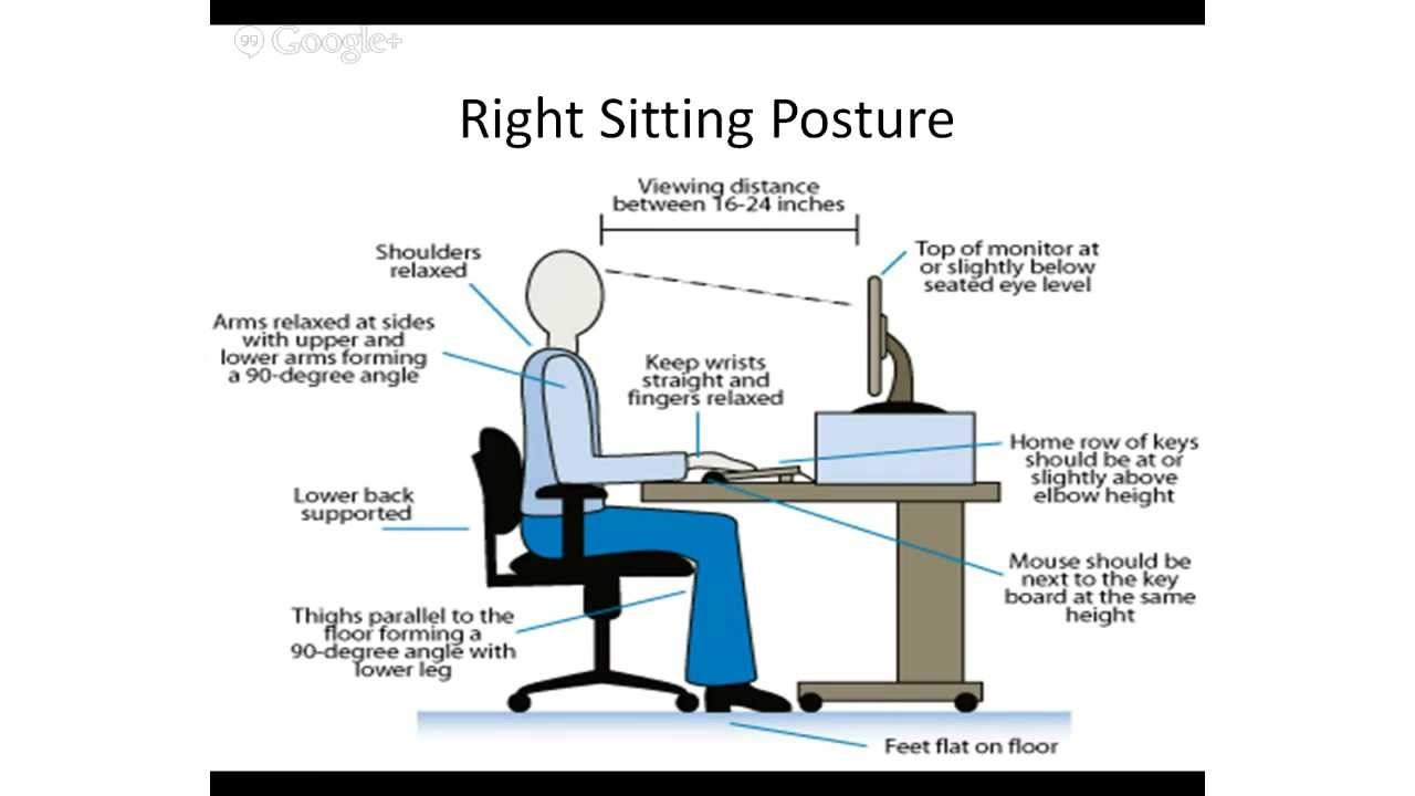 Correct Posture and Easy Office Exercises YouTube