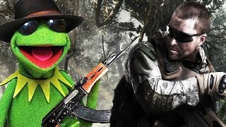 Kermit The Frog Plays Call Of Duty (Xbox Live Voice Trolling)
