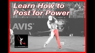Golf Lesson - Leąrn How to Post Up Like the Pros
