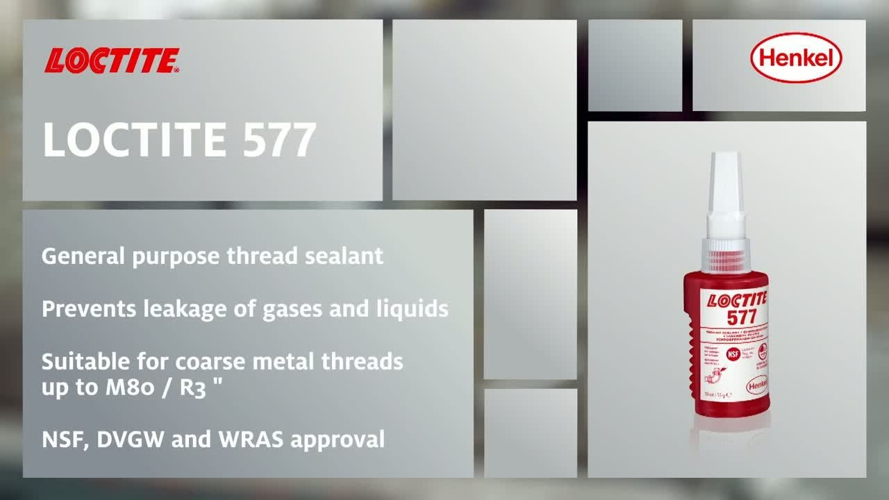 How to use LOCTITE 577 - Thread Sealant