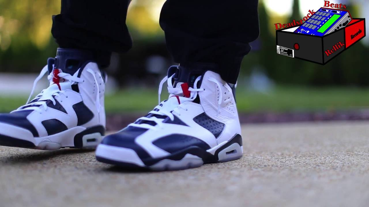 2c2f9883247ce4 Air Jordan 6 VI Olympic On Feet - YouTube