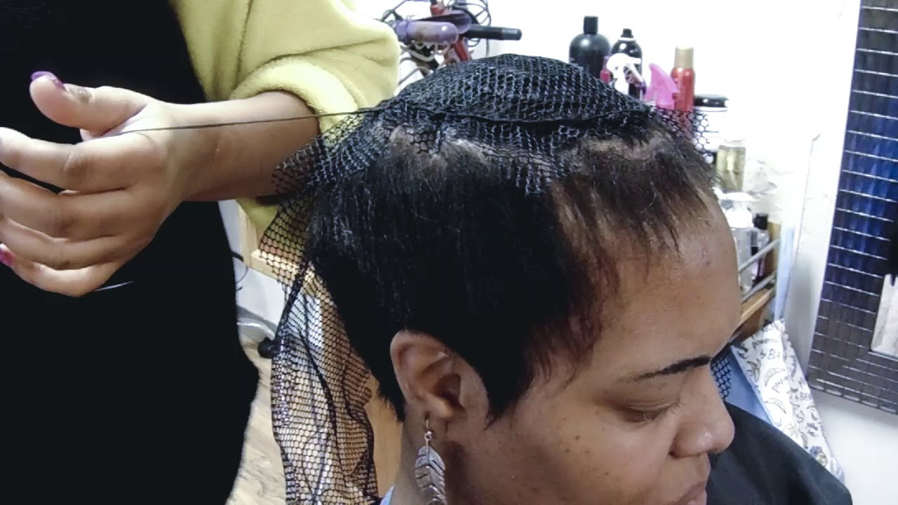 partial sew in on short hair inspired by fantasia