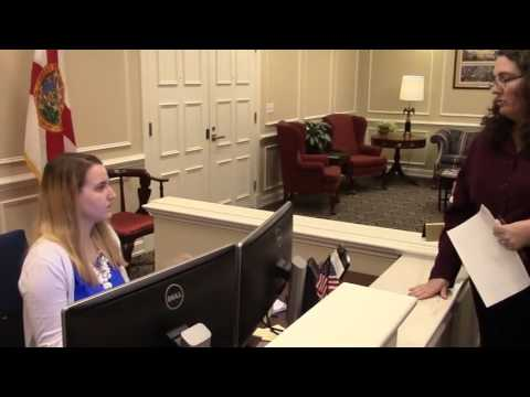 Delivery of letter to FL Gov. Rick Scott's office --Kim Ross