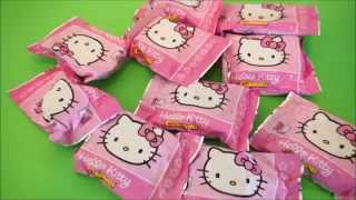 HUGE Hello Kitty SURPRISE EGG & 10 Super cute HelloKitty Blind Bags Toys opening
