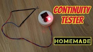 how to make a continuity tester using 3v cmos battery homemade