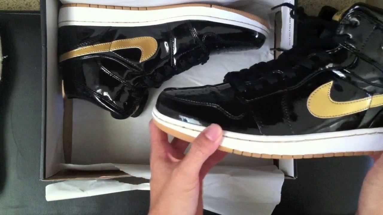 nike air jordan gold and black