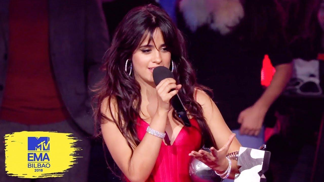 Camila Cabello Accepts Best Artist Award | MTV EMAs 2018