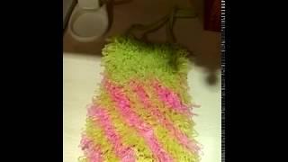 Как влияет способ вязание на качество мочалки