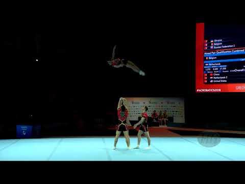 Russian Federation 1 (RUS) - 2018 Acrobatic Worlds, Antwerpen (BEL) - Combined  Men's Group