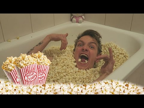 Bathing In Popcorn! Netflix And Chill?