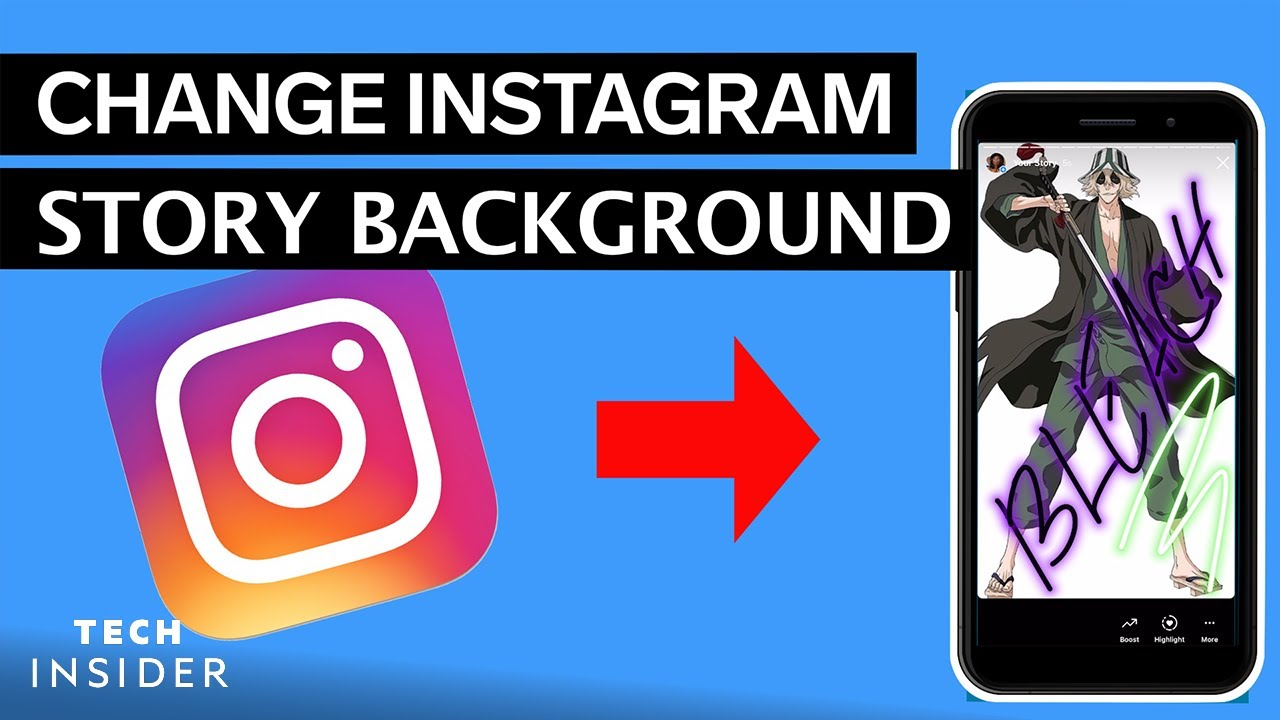 How to Change The Background Color of your Instagram Story