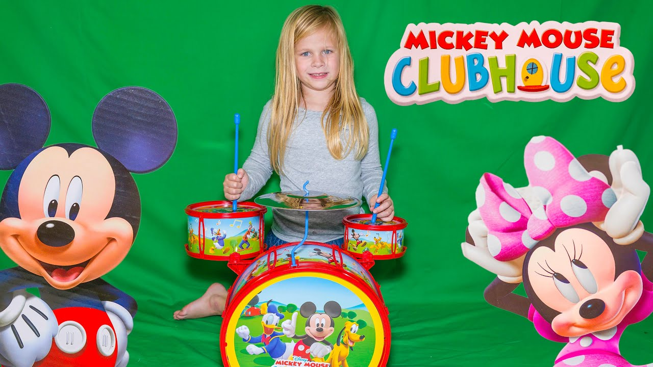 MICKEY MOUSE CLUBHOUSE Mickey Mouse Drums aMickey Mouse Clubhose Video Toy Unboxing - YouTube  sc 1 st  YouTube & MICKEY MOUSE CLUBHOUSE Mickey Mouse Drums aMickey Mouse Clubhose ...