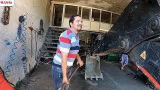 Hidromek Beko Loder Uzar Bom tamiri Ve Yağ Değişimi yaptık