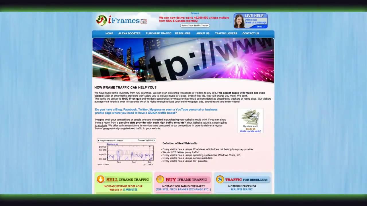 Bulk IFrame Web Traffic IFramesus YouTube - Us web traffic map