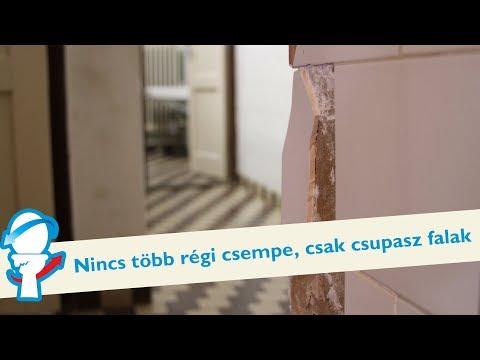 Nincs több régi csempe, csak csupasz falak