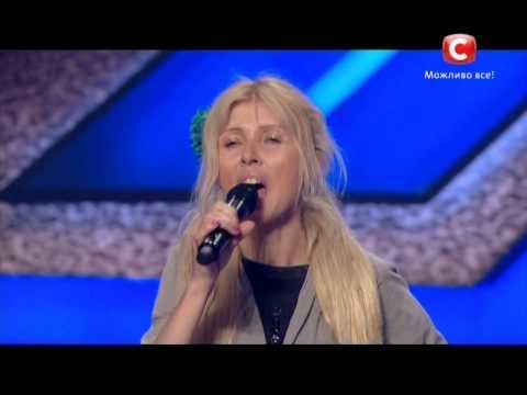 «Х-фактор-5» /Lady Almaz- Алла Палий - Обними меня  (ВиаГра cover) / Донецк (06.09.2014)