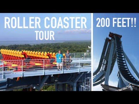 Standing on a 200 Foot tall Roller-Coaster! Busch Gardens Williamsburg Virginia Insider Tour!