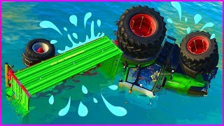 Tractor in TROUBLE | Tractors for Kids | ACTION Video for Kids