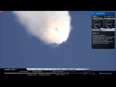 2015-06-28 SpaceX CRS-7 launch failure (1080p webcast)