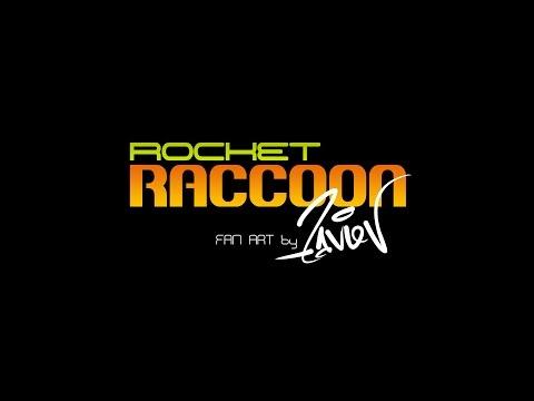 Rocket RACCOON Fan ART by ZAVIEV