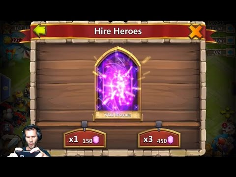 Every GEM Hero IN The Game Except Treantaur? Lets Get Some TREES! Castle Clash