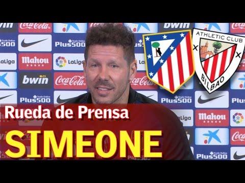 Atlético Madrid - Athletic   Rueda de prensa de Simeone   Diario AS