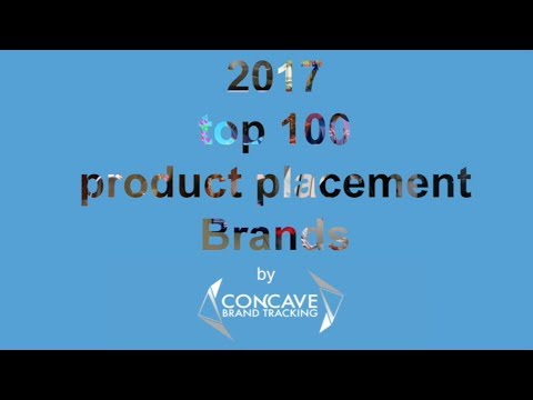 top 100 product placement Brands in 2017 movies