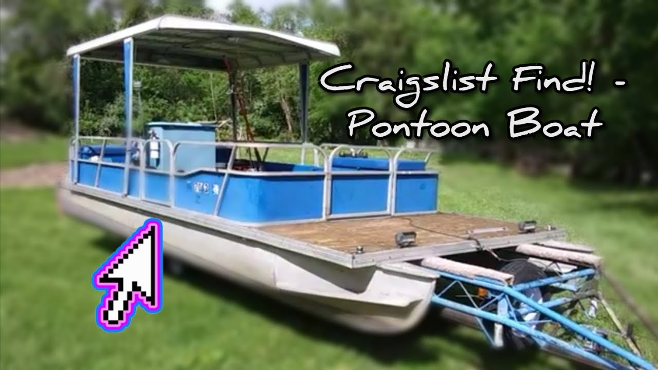 Craigslist Find Fishing Pontoon Project Budget Boat Build - More To Come