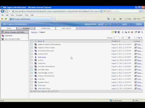 Cognos 10 Training - Creating Security Groups  - Part 20 of 30