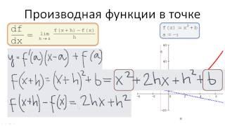 0202. Пример вычисления производной функции f(x)=x^2