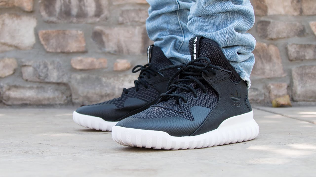 Adidas tubular x primeknit shadow green ON FEET CLOSE UP