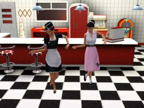 Sims 3 A 50 S Diner Dance Youtube