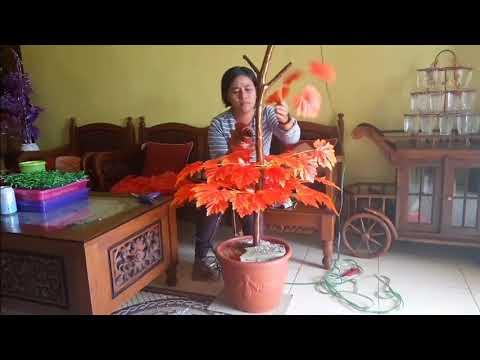 Cara Membuat Tanaman Hias Plastik Pakai Dahan Atau Batang Pohon ... 483d2c63c9