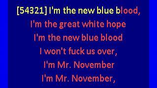 National - Mr November (karaoke)