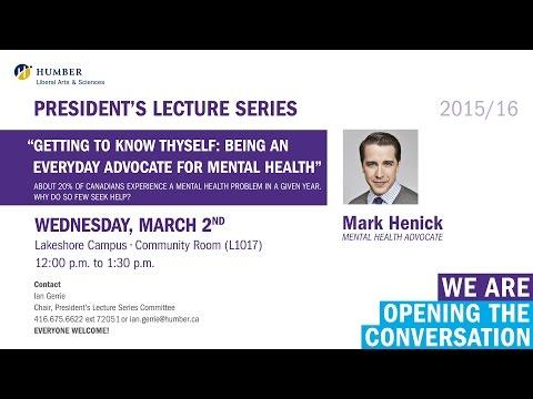 President's Lecture Series - Mark Henick