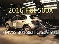 2016-2019 Fiat 500X FMVSS 301 Rear Crash Test (50 Mph)