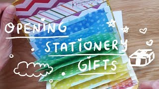 Opening Stationery Gifts (a.k.a. happiness) | Rainbowholic