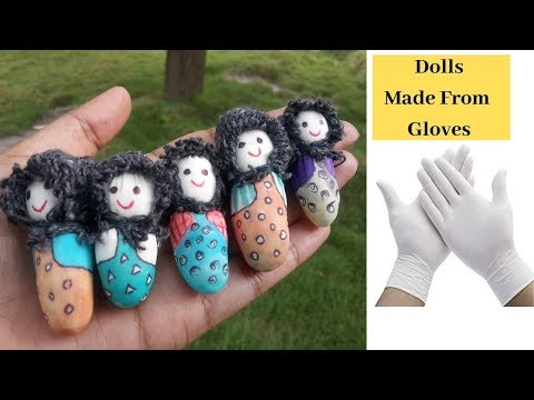 How to Make Dolls From Gloves / Doll Making Idea By Aloha Crafts