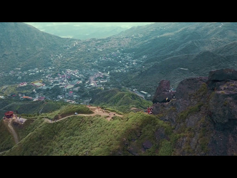 Drone Taiwan - Teapot Mountain near Keelung