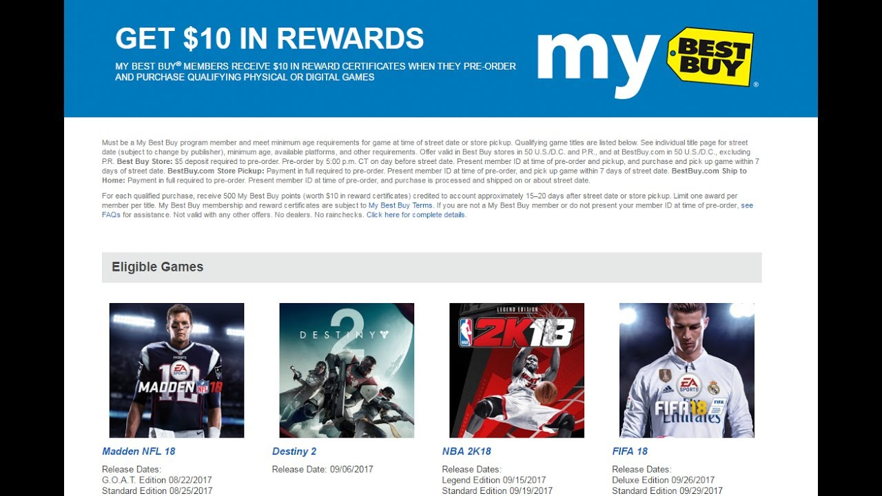 Nintendo Finally Included In Bestbuy Preorder Promotions Youtube