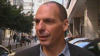 """Yanis Varoufakis zum Stinkefinger: """"Geste, die ich nie benutzt habe"""", 19. März 2015, Athen"""