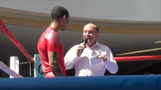 CONOR BENN SPEAKS TO THE PEOPLE IN SCOTLAND @ OPEN WORKOUT / HISTORY IN THE MAKING