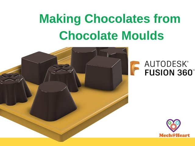 Fuison 360 Combine Cut Tutorial - How to make chocolates from mould