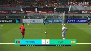 PORTUGAL vs SPAIN | Penalty Shootout | PES 2018 Gameplay PC