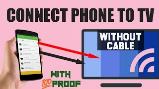 Connect your phone to TV without any cable||💯%working with proof!! 2018